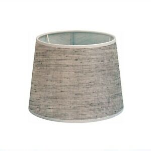 Lampenschirm rund Grau-weiß melliert Du22/Do18/H15cm Befestigung unten E27