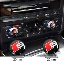 S line Emblem Aufkleber*MMI Audio Control Knopf*Stickers S-line*Logo 2x for Audi