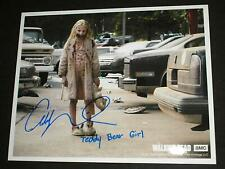 ADDY MILLER Signed 8x10 Photo Teddy Bear Girl The Walking Dead Autograph A