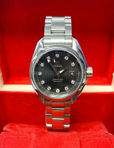 Omega Seamaster Aqua Terra 231.10.30.61.56.001 Diamond Dial With Papers SERVICED