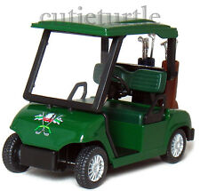 "4.3"" Kinsfun Golf Club Cart Model Caddy Car With Club Pull Back Action Green"