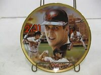 """Baseball Record Breakers Limited Edition 1995 Collectible Plate """"Cal Ripken Jr."""""""