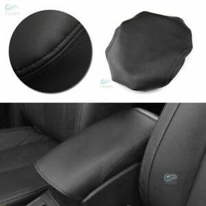 Black+R Leather Center Armrest Console Cover Lid For Nissan X-Trail Rogue14-20