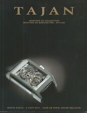TAJAN WATCH CUFFLINKS PENS Piguet Jaeger Montblanc Patek Rolex Catalog 2011