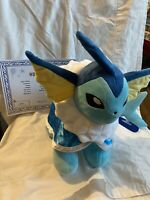 Brand New Build A Bear Pokémon Vaporeon Exclusive 2020 with tag and cape sound