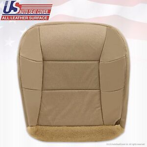 2001 Lincoln Navigator Driver Side Bottom Perforated Leather Seat Cover Tan