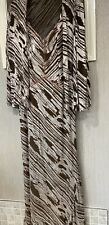 Montage by Mon Cheri SIZE 8 Brown zebra delicate pink beaded gown w/ jacket