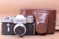 ZENIT-3M KMZ USSR Soviet Russian 35 mm SLR Film Camera lens Industar 50 3,5/50mm