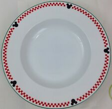 Disney Gourmet Mickey Serving Bowl Pasta Vegetable Dish Red Checkerboard