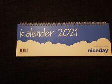 Niceday Tischkalender 1 Woche auf 2 Seiten 2021 blau