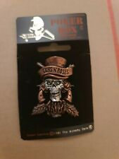 More details for guns n' roses tophat alchemy poker rox pewter pin badge clasp rare deadstock