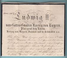König von Bayern Ludwig II.    13-1/0019