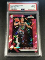 TRAE YOUNG 2018 PANINI PRIZM #78 PINK ICE REFRACTOR ROOKIE RC PSA 9 ON FIRE!!