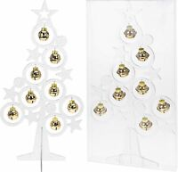 Pretty 39cm Desk Top Table Top Christmas Tree with Baubles Christmas Decoration