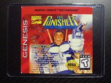 The Punisher Sega Genesis Replacement Game Label Sticker Precut
