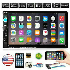 7'' HD 2DIN Car Radio Stereo Bluetooth FM Player MP5 Touch Screen USB SD AUX IN
