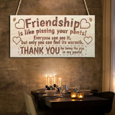 Friendship Sign Thank you Best Friend Plaque Wood Hanging Board Home Decoration