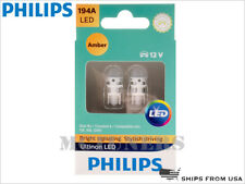 NEW! PHILIPS 194A ULTINON LED AMBER BULBS 194AULAX2 | PACK OF 2