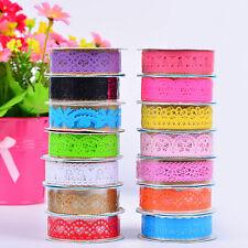 5PCS Lace Decorative Self Adhesive Masking Washi Tape Sticky Paper Sticker DIY