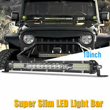 Ultra-thin 10inch Super Slim LED Work Light Bar Spot Flood Combo Offroad ATV SUV