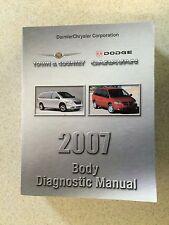 2007 Dodge Caravan, Chrysler Town & Country Body Diagnostic Procedures Manual