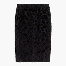 New J.Crew Slip Skirt In Burnout Velvet Leopard Size 4 MSRP $143 Holiday Party