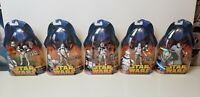 $90 value- 5 STAR WARS ROTS Clone Troopers MOC 38-AT-TE 33-COMMANDER 36-GRIEVOUS