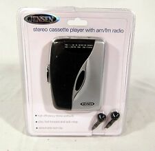 NOS NEW Jensen SCR-68B Walkman AM FM Stereo Cassette Tape Player Sealed