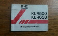 KAWASAKI KLR 500 650 OWNERS MANUAL / HANDBOOK / BOOKLET