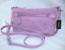 NWT Coach Shearling and Leather Cross body Bag  36490 $195