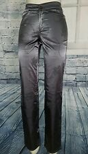 GUESS Women's Size 28 Straight Leg Satin Dress Pants, Gray/Silver, Made in Italy