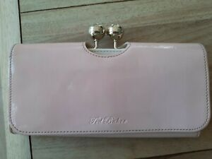 Ted Baker Pale Pink Patent Leather Matinee Bobble Purse - VGC