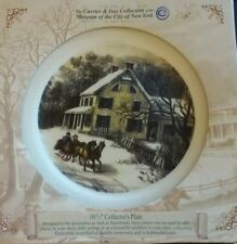 """Authentic 2003 Currier And Ives Collectors Plate """"American Homestead Winter�"""