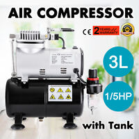 Airbrush Compressor Kit Spray Gun Set 22CC Ink Cup Paint 1/6hp 0.8MM Air Brush