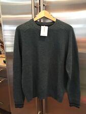 Men's LANDS END Lambswool Crew Neck Sweater Jade Green Size M