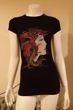 NWT Ed Hardy Tunic Medusa Basic S/S Black Cotton Long XS T-Shirt Dress FREE GIFT