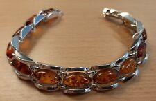 925 Silber Armband, Bernstein, Art Deco,  Vintage, Top Zustand, Amber, Stempel