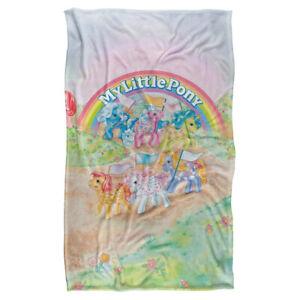 "MY LITTLE PONY CLASSIC PONIES Lightweight Super Soft Fleece Blanket 36"" x 58"""