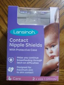 Lansinoh 2 Contact Nipple shields With Protective Case 20mm