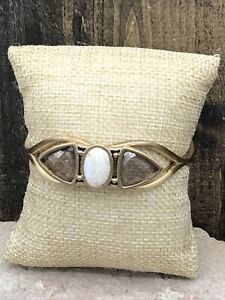 Barse Mirador Cuff Bracelet- Mixed Stones- Bronze- New With Tags