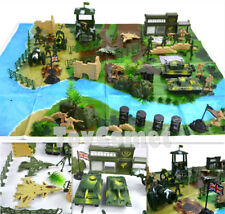 90 pcs Military Playset Plastic Toy Soldier Army Men 1:36 Figures & Accessories