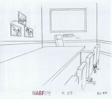 Simpsons Office Original Art Animation Production Pencils Habf09 Sc-55 B.G. 55