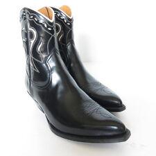 W-1674389 New Saint Laurent Kella Mat Nappa Nero Blance Volre Boots Size 41 US-8