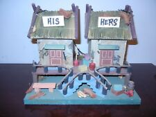 His and Hers Outhouse Decorative Birdhouse - New