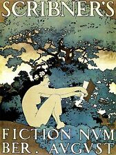 ART PRINT POSTER VINTAGE MAGAZINE COVER SCRIBNERS NOUVEAU FOREST WOMAN NOFL1484