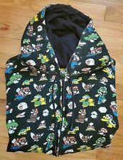 Rare Vintage Super Mario Brothers Hoodie Sweat Jacket Size Large 2008 Nintendo 3