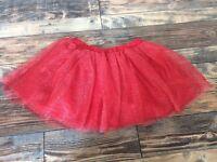 Gymboree Girls Red Sparkle Tutu Tulle Christmas Holiday Skirt NWT Size 8