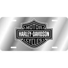 Harley-Davidson Logo Plate Silver Mirror Bar and Shield Laser Official License