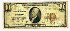 1929 Ten Dollars $10 National Currency BANK  Note Cleveland Ohio