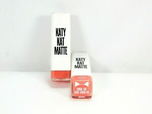 Lot of 2 Covergirl Katy Perry Katy Kat Matte Lipstick Tube KP04 Coral Cat